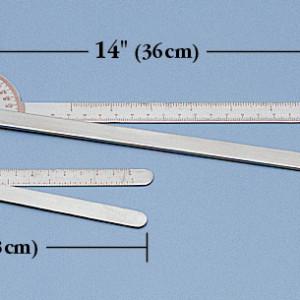 Goniómetro, de 180 grados 7″ (18cm)